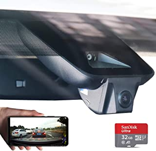 FITCAMX Dash Camera for Car 2018/2019 Toyota HIGHLANDER Hidden DVR Driving Recorder with Wifi Front lens 1080P FHD 170° Wide Angle G-sensor Parking Monitor Loop Recording Night Vision APP(Android IOS)