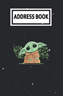 Address Book: The Mandalorian The Child Green St. Patricks Day Baby Yoda Telephone & Contact Address Book with Alphabetica...