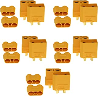 5 Pairs XT90 XT-90 Male Female Bullet Connectors Power Plugs with Sheath for RC Lipo Battery