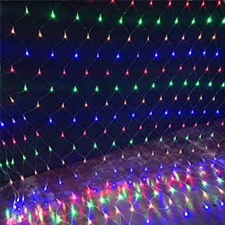 ARTSTORE 3M 200LEDs Led Net Mesh Fairy String Lights,8 Modes Outdoor/Indoor Lights Plug Powered for Christmas Xmas Garden Wedding Party Home Bedroom Decoration,Colorful