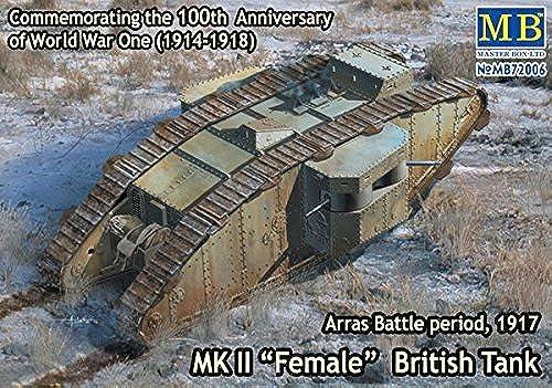 perfecto MK II FEMALE BRITISH TANK, TANK, TANK, ARRAS BATTLE PERIOD, 1917 1 72 MASTER BOX 72006 by Master Box Models  Envio gratis en todas las ordenes