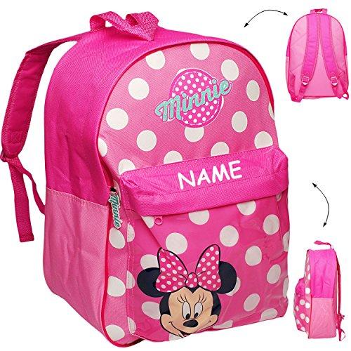 alles-meine.de GmbH großer _ Kinder Rucksack -  Disney - Minnie Mouse  - inkl. Name - Tasche - beschichtet & wasserfest - Kinderrucksack / groß Kind - Jungen - z.B. für Vorschu..