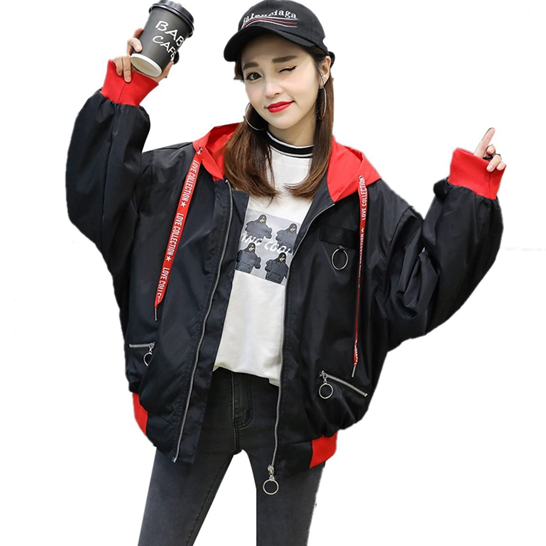 topmodelss レディース ウインドブレーカー スカジャン ジャケット 防風?防寒ジャンパー 2色 韓国 原宿 ファッション カラフル ダンス 衣装 派手 個性的 アウター