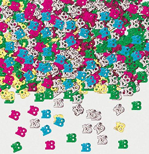 amscan Confettis de Table Anniversaire 18 Ans - Taille Unique