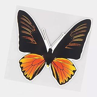 UYEDSR Pegatinas para coche, 2 unidades, color amarillo y negro, diseño de mariposas, 16 x 15 cm