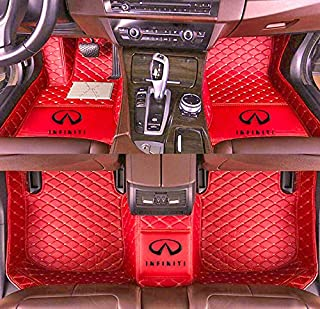 Fit for Infiniti Q50 2014 2015 2016 2017 2018 2019 2020 Custom Fully Surrounded Waterproof Non-Slip Anti-Soil All Weather Car-Styling Leather Car Floor mats