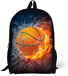 School Backpack,for Age 6-16 Boys Combustion Sport Basketball Design