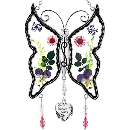 Congratulations in New Home Thinking of You Gift Ideas Thank You Best Friend Miss You Stained Glass Butterfly Suncatcher Window Hanger