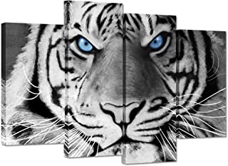Best black and white tiger canvas Reviews