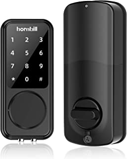 Smart Keypad Lock for Front Door, Keyless Entry Electronic Bluetooth Digital Smart Deadbolt Door Lock, Smart Locks with Code and eKey, Work with APP Control, Auto Lock for Home Hotel Apartment Office