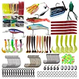 Shaddock Freshwater Fishing Lures Tackle kit,161pcs Fishing Tackle Box with Fishing Worms Jigs Lures for Bass...