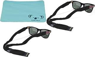 Koala Lifestyle Croakies Cotton Suiters Eyewear Retainer Sunglass Strap   Adjustable Eyeglass & Sports Glasses Holder Keeper Lanyard   2pk Bundle + Cloth