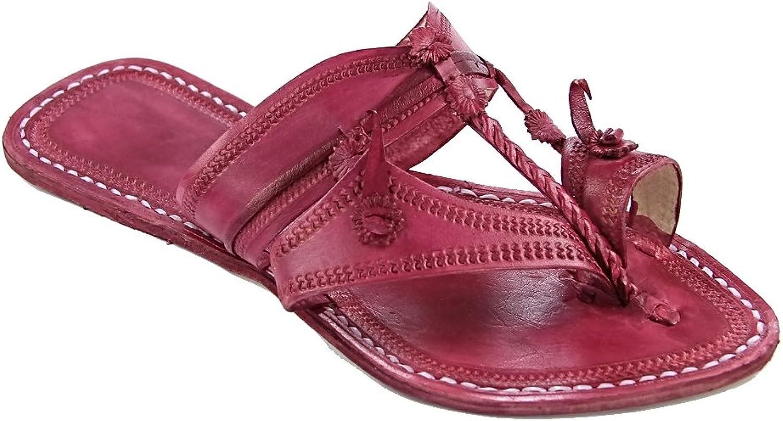 KOLHAPURI CHAPPAL Original Antiqua Design Rubin Ladies Slipper Sandal