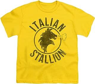 Men's Italian Stallion Horse Youth T-Shirt Yellow