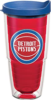 Tervis NBA Detroit Pistons Primary Logo Tumbler with Emblem and Blue Lid 24oz, Red