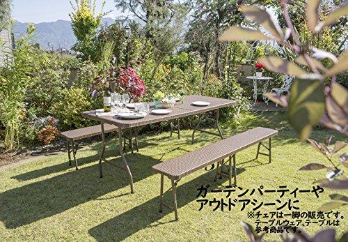 タカショー(Takasho)イージーキャリーベンチラタン調ブラウンECF-B01BR幅183×奥行28.5×高さ42cm