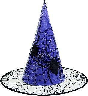 قبعة Coxeer Cosplay من أغطية الرأس Halloween Prop Witch قبعة مزخرفة العنكبوت قياس واحد Y7Q60050O15WQZ0E3SWGEXD6