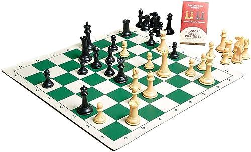 camaratta Chess Kit mit Den Sammler, Kunststoff Chess Set Stück Nur 9,5cm King Schwarz& Natural