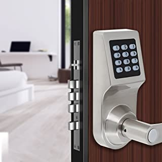 Smart Door Lock, 4-in-1 Electronic Door Lock Fingerprint Door Lock, Digital Door Lock with Keypad, RF Card, Mechanical Keys for Home, Office, Hotel