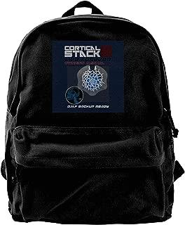 Canvas Backpack Cortical Stack Owners Manual Altered Carbon Rucksack Gym Hiking Laptop Shoulder Bag Daypack for Men Women