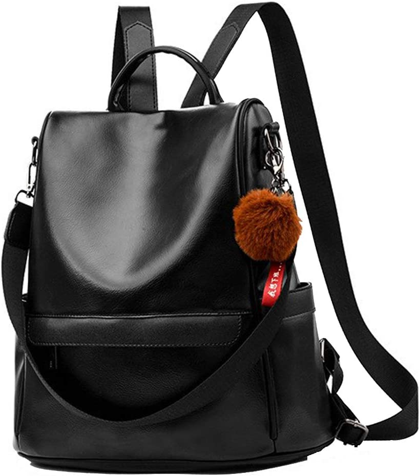 Women Backpack Purse Fashion Anti-theft PU Rucksack All items free Cash special price shipping Trav Leather