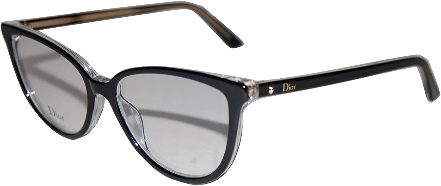 Christian Dior MONTAIGNE33 TKX Black Crystal Eyeglasses