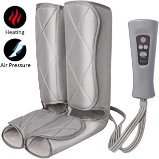 Air Compression Leg Massager for Foot and Calf Massage with Optional Heat 3 Modes 4 Intensities for Feet, Legs, Calves Muscle Relaxation