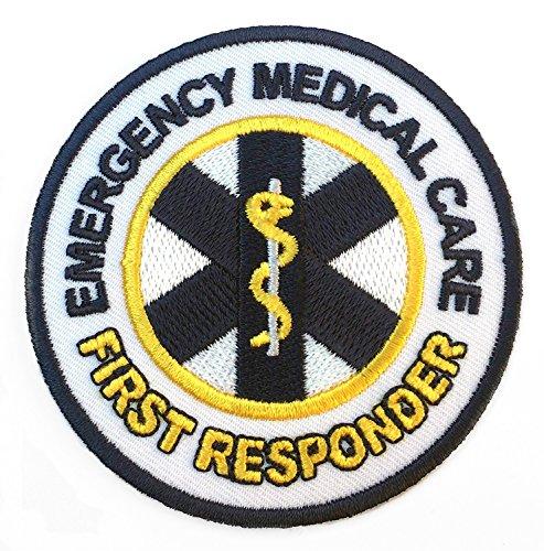 Parche bordado con logo de «Emergency Medical Care First Responder» (Servicios de emergencia), para hacerte tu propio disfraz de médico, enfermero o paramédico, cosplay, 8 cm