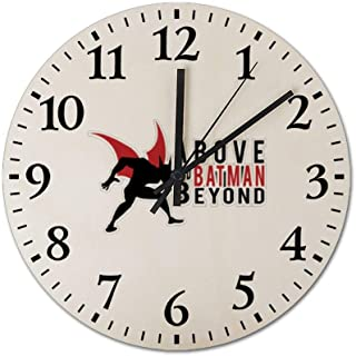 Above-and-Batman-Beyond-Podcast Wooden Frameless Silent 12 inch Wall Clock, Suitable for Living Room Guest Room Villa