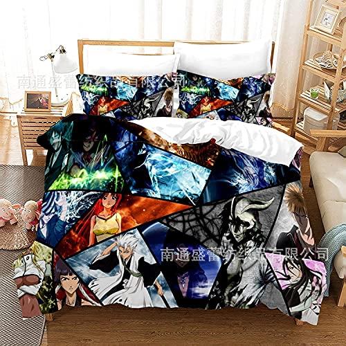 Proxiceen Juego de ropa de cama de microfibra cómoda y transpirable, ropa de cama individual para niños de microfibra (Bleach 06,200 x 200 cm + 2 x 80 x 80 cm)