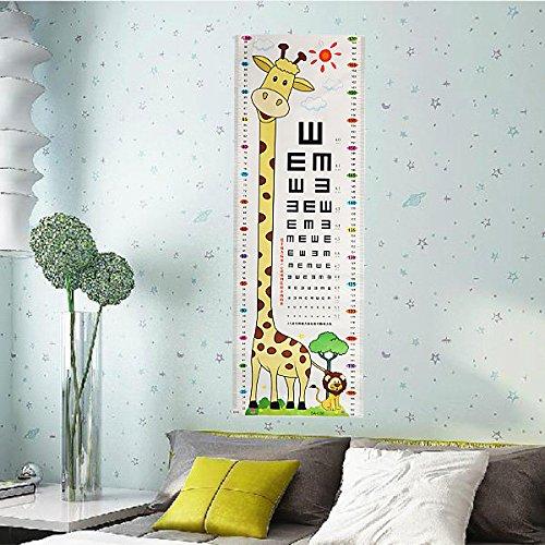 Bazaar Jugendliche Baby Giraffe Lion Sehtesttafel Wand Aufkleber Removable Startseite Kindergarten Dekor