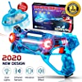 HIPHOPTOY Kids Laser Tag Gun Game with Flying Toy Drone Target, Infrared Lazer Shooting Game for Children with Fun LED Effects, Sounds, and 4 Gun Modes, Best Gift for Boys Ages 5 6 7 8 9 10