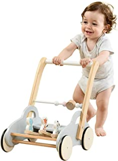 labebe Push Walker Stroller Toys ,Pull Wagon for Kid,Gray Animal-Push Toy for Toddler, sit to Stand Learning Walker, 2-in-...