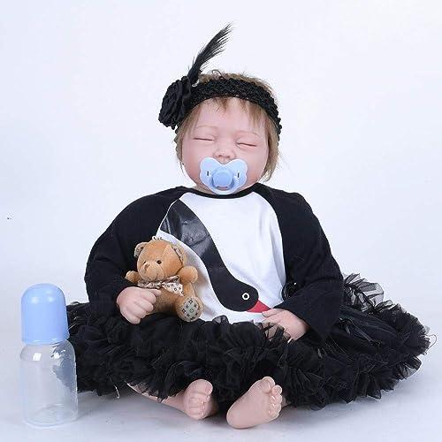 Hongge Reborn Baby Doll,Realistische Reborn Baby Sieht wirklich Reborn Neugeborenen Puppe 55cm