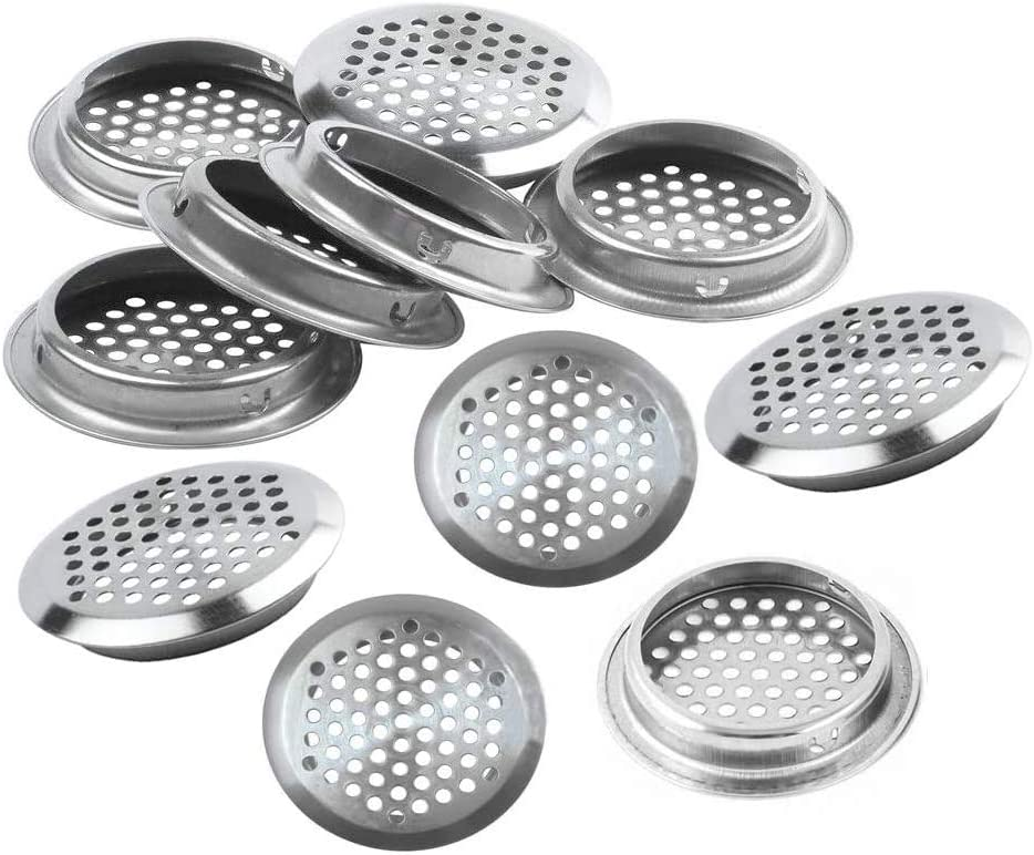 Eyech outlet 18pc Round Mesh Hole Air Circular So Vents Stainless Super special price Steel