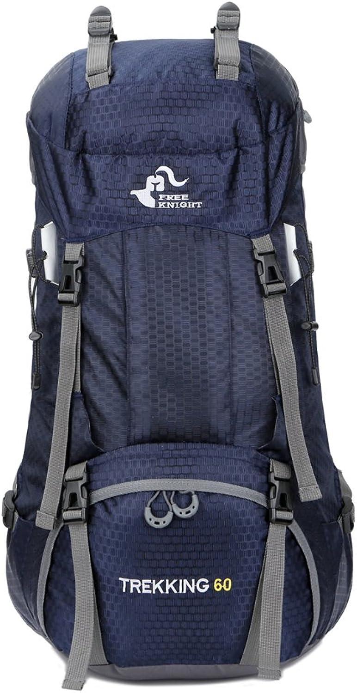 MAGAI Wandern Rucksack Reise Daypack wasserdicht mit Regenschutz für Camping Bergsteigen Klettern (Farbe   Dark Blau)