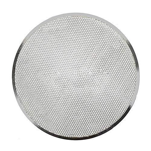 Sartenes para Pizza Aleación de Aluminio Engrosamiento Malla Plana Rejilla para Pizza Horno Bandeja para Hornear Utensilios para Hornear de Red Utensilios de Cocina 88 (Tamaño: 14 Pulgadas)
