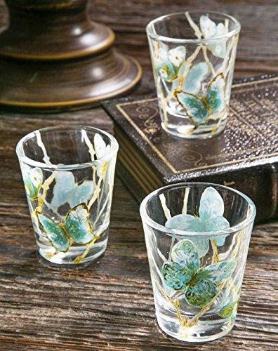 Cypress Home Blue Flight Shot Glass 3 Piece Set