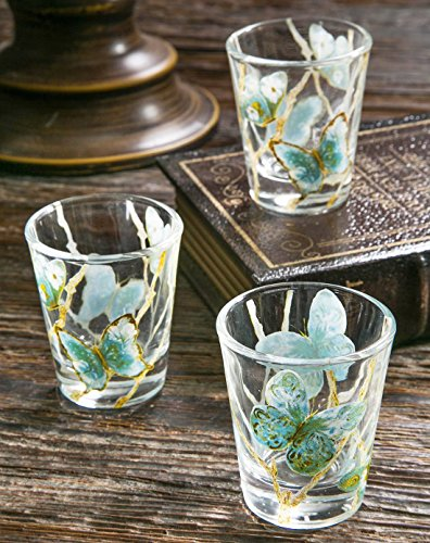 Cypress Home Blue Flight Shot Glass 3 Piece Set