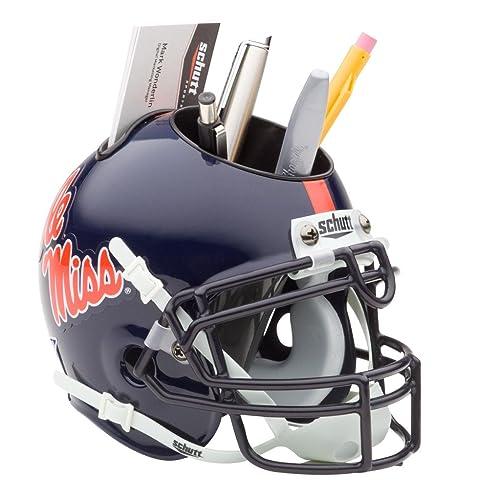 Schutt NCAA Ole Miss Rebels Football Helmet Desk Caddy f5ce42fcc