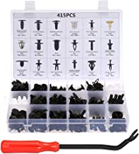 Car Retainer Clips & Plastic Fasteners Kit Auto Fastener Clips with Clips Removal Tool 415PCS 18 Sizes Car Push Pin Rivet ...