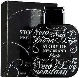 New Brand Story of New Brand Black 3.3 Oz Eau De Toilette Spray | Fragrance for Men