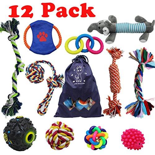 Confezione da 12 giocattoli da masticare, per cani di piccola e media taglia
