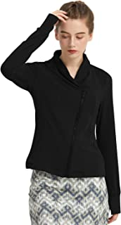 Women's Jacket Zip Up Fleece Jacket with Thumb Holes,Slim Fit Ultra Soft Workout Jacket Lightweight Yoga Sweatshirt