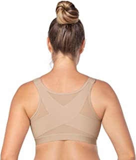 Back Support Posture Corrector Wireless Bra Adjustable Front Closure