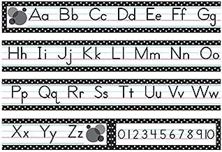 Best alphabet border black and white Reviews