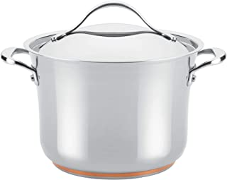 Anolon 77275 Nouvelle Stainless Steel Stock Pot/Stockpot with Lid, 6.5 Quart, Silver