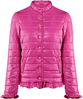 Leomodo Women's Lightweight Down Jacket with Pocket Auricularia Trim