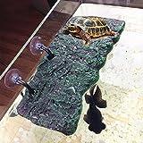 BigTron Turtle Platform, 28cm Floating Turtle Tank Tortoise Pier Rectangular Terrapin Dock PU Foam Aquarium Float Decoration Bask Terrace Climb Brazilian Tortoise- Large