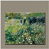 YANGMENGDAN Leinwanddruck Malerei Moderne Kunst Impressionismus Decoracion Gemälde Renoir Frau mit einem Sonnenschirm im Garten 1875 für zu Hause Leben Dekorative 15,7'x 23,6' (40x60cm) Kein Rahmen
